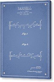 1950 Barbell Patent Spbb04_lb Acrylic Print