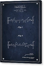 1950 Barbell Patent Spbb04_nb Acrylic Print