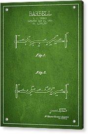 1950 Barbell Patent Spbb04_pg Acrylic Print