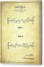 1950 Barbell Patent Spbb04_vn Acrylic Print