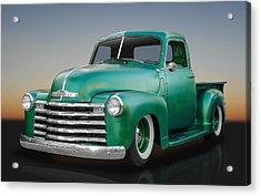 1950 Chevy Pickup Truck Acrylic Print by Frank J Benz