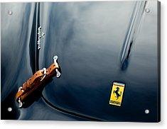 1950 Ferrari Hood Emblem Acrylic Print by Jill Reger