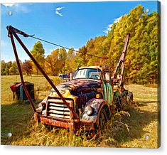 1950 Gmc Truck Acrylic Print by Mark Allen