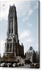 1950 Riverside Church Ny Acrylic Print by Marilyn Hunt