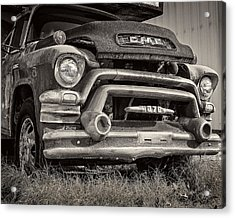 1950s Gmc 370 Acrylic Print by Jon Woodhams