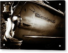 Acrylic Print featuring the photograph 1950s Packard Tail by Marilyn Hunt