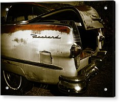 Acrylic Print featuring the photograph 1950s Packard Trunk by Marilyn Hunt