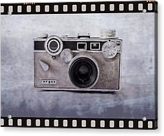 1950's Vintage Argus Camera With Filmstrip Border Acrylic Print by Tony Grider