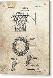 1951 Basketball Net Patent Acrylic Print