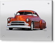 1951 Chevrolet Custom Coupe Acrylic Print by Dave Koontz