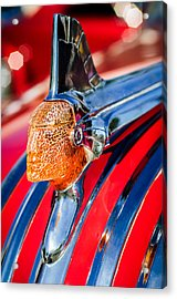 1951 Pontiac Chief Hood Ornament Acrylic Print by Jill Reger