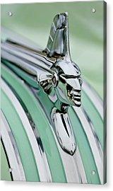 1951 Pontiac Streamliner Hood Ornament 3 Acrylic Print by Jill Reger