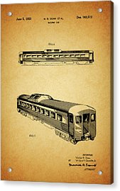 1951 Railway Car Patent Acrylic Print by Dan Sproul