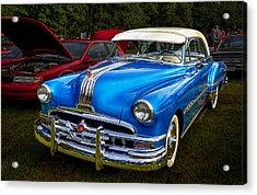 1952 Blue Pontiac Catalina Chiefton Classic Car Acrylic Print