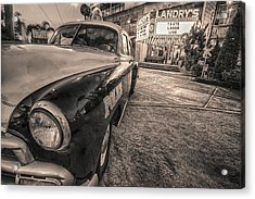 1952 Chevy Black And White Acrylic Print
