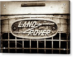1952 Land Rover 80 Grille  Emblem -0988s2 Acrylic Print