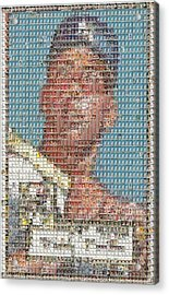 1952 Topps Mickey Mantle Rookie Card Mosaic Acrylic Print