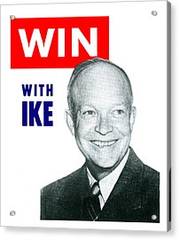 1952 Win With Ike Acrylic Print