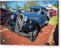 Acrylic Print featuring the photograph 1953 Citroen Traction Avant by Rich Franco