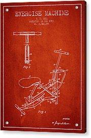 1953 Exercising Device Patent Spbb07_vr Acrylic Print