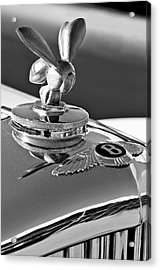 1954 Bentley One Of A Kind Hood Ornament 2 Acrylic Print by Jill Reger