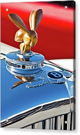 1954 Bentley One Of A Kind Hood Ornament Acrylic Print by Jill Reger
