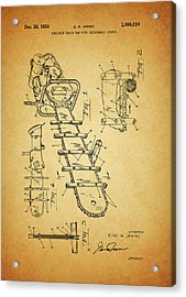 1954 Chainsaw Patent Acrylic Print by Dan Sproul