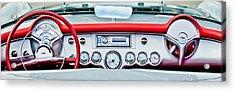 1954 Chevrolet Corvette Dashboard Acrylic Print by Jill Reger