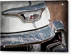 1954 Chevrolet Panel Truck Grille Emblem -1301ac Acrylic Print by Jill Reger