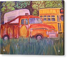 1954 Gmc Wrecker Truck Acrylic Print by Belinda Lawson
