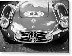 Acrylic Print featuring the photograph 1954 Maserati A6 Gcs -0255bw by Jill Reger