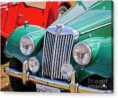 Acrylic Print featuring the photograph 1954 Mg Tf Sports Car by Chris Dutton