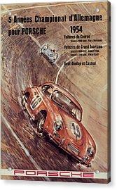 1954 Porsche Championat D'allemagne Acrylic Print