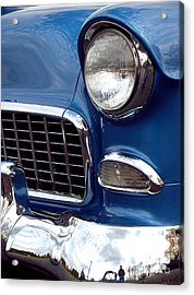 1955 Chevy Front End Acrylic Print by Anna Lisa Yoder