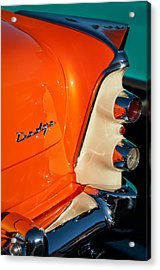 1955 Dodge Coronet Tail Light Emblem -0050c Acrylic Print by Jill Reger