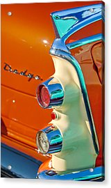 1955 Dodge Coronet Tail Light Emblem -0086c Acrylic Print by Jill Reger