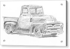 1955 Ford Pickup Sketch Acrylic Print