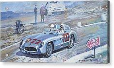 1955 Mercedes Benz 300 Slr Moss Jenkinson Winner Mille Miglia 01-02 Acrylic Print