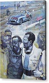 1955 Mercedes Benz 300 Slr Moss Jenkinson Winner Mille Miglia  Acrylic Print