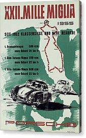 1955 Mille Miglia Porsche Poster Acrylic Print