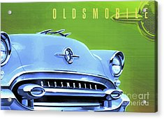 1955 Oldsmobile Ninety-eight 3 Acrylic Print by GabeZ Art