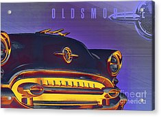 1955 Oldsmobile Ninety-eight 4 Acrylic Print by GabeZ Art