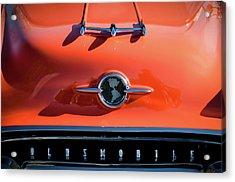 1955 Oldsmobile Rocket 88 Hood Ornament Acrylic Print by Jill Reger