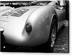 1955 Porsche 550 Rs Spyder . Black And White Photograph . 7d9453 Acrylic Print by Wingsdomain Art and Photography