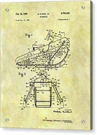 1955 Snowmobile Patent Acrylic Print