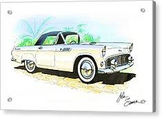 1955 Thunderbird Painting Acrylic Print