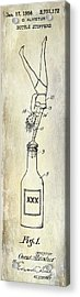 1956 Bottle Stopper Patent Acrylic Print by Jon Neidert
