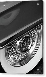1956 Cadillac Eldorado Wheel Black And White Acrylic Print