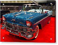 1956 Chevrolet Bel-air Convertible . Blue . 7d9248 Acrylic Print by Wingsdomain Art and Photography