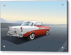 1956 Chevrolet Bel Air Acrylic Print by Marty Garland